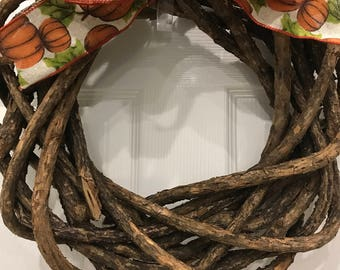 Bark Vine Wreath with Interchangeable Bows, Year Round, Holidays, Occasions, Seasons, Customizable