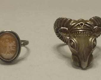 Two Sterling Rings
