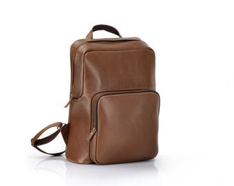 Men's Leather Backpack | Large Laptop backpack | Large rucksack for men | Brown backpack | Handsome backpack | Backpack leather | Laptop bag