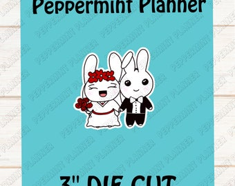 Jelly Bean & Peppie Getting Married --- Die Cut --- DC12