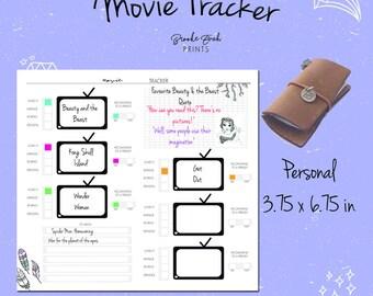 Tn Printable, Movie Log, Movie Tracker, Film Log, Personal Insert, Personal Notebook, Tn Insert, Midori, PDF
