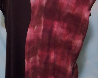 Live dangerously in this pink and maroon beauty of a marbled ice dyed tie dye scarf with a reputation.