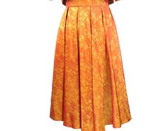 Set vintage style 1960's iridescent orange