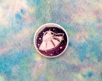 """UFO in Space 1"""" badge"""