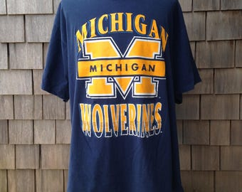 Vintage 90s MICHIGAN WOLVERINES T Shirt - 3XL / 4XL - University of Michigan