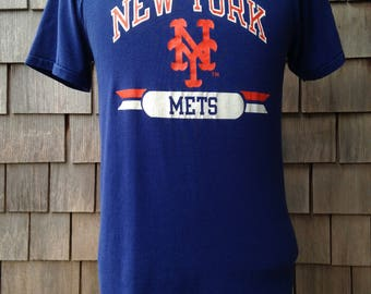 Vintage 80s New York Mets T Shirt by Champion - Medium