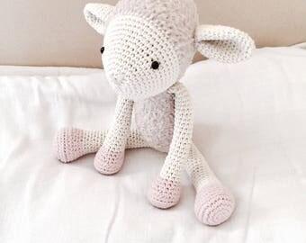 Crochet Baby Sheep Amigurumi Hand Made Soft Toy Nursery Decoration Plushie