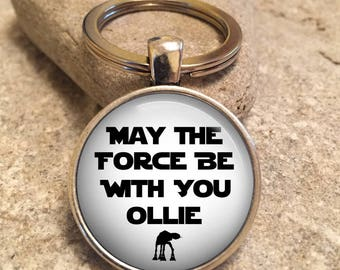 Force Be With You Personalised Star Wars Keyring, personalized Keychain, star wars gift, personalised star wars, Gift for him, keyring