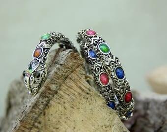 statement snake Jewelry Vintage Bracelet snake Bracelet Vintage snake bangle Silver Jewelry Silver Bracelet Statement Bracelet