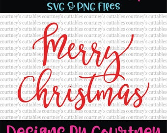 Merry Christmas SVG File/ PNG File | Christmas SVG | Christmas Cut Files | Cricut and Silhouette Files