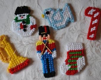 Christmas Ornaments - set of six
