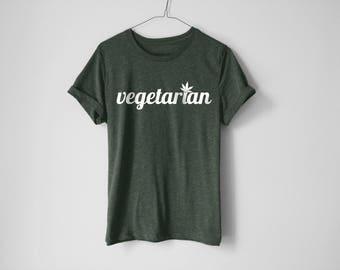 Vegetarian Shirt | Weed Shirt | Stoner Tees | Kush Shirt | Cannabis Shirt | Weed Tees | Cali Shirt | Ganja Shirt | Thc Shirt | 420 | Trendy