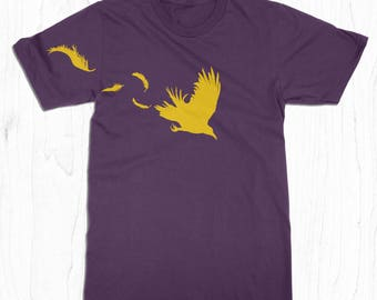 Raven T-shirt - Crow Shirt - Feathers T-shirt - Baltimore Clothing