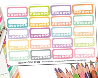 Habit Tracker Stickers | Habit Tracker Planner Stickers | Habit Tracking Stickers Rainbow Colorful | Fits Erin Condren and More Planners