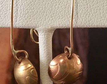 Brass Bowl Earrings