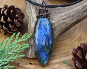 Labradorite Necklace, Labradorite Pendant, Labradorite Jewelry, Womens Necklace, Blue Labradorite, Gemstone Necklace, Natural Stone Necklace