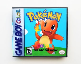 Pokemon Red (Full Color) Version Nintendo Game boy gbc gba gba sp (Custom Fan Made Game & Case) Gameboy