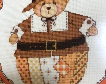 Gloria & Pat, Roly Poly November, Cherished Teddies, Vintage, Counted Cross Stitch Pattern Only