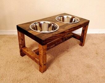 dog bowl feeder large dog feeder farmhouse style rustic dog bowl stand