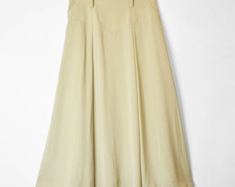 Vintage Swing Skirt 90s does 50s Pastel Pale Green UK10 Small Pin Up Rockabilly