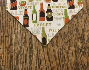 "Homemade ""Proudly Pilsner"" dog bandana"