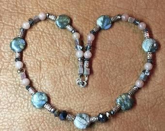 Natural Stone- Jasper Quartz Necklace
