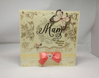 Mother's Day Card - Mam -luxury personalised unique quality special bespoke UK