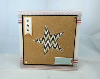 Male Birthday Card - Star - luxury personalised unique quality special bespoke UK - Dad/Son/Uncle/Brother/Nephew