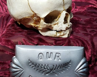 casket plate, our darling casket plate, funeral