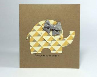 Congratulations! New Baby Elephant Card