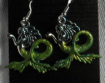 Green Mermaid Earrings