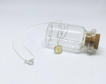 Citrine necklace, 925 sterling silver citrine pendant, November birthstone, citrine jewelry, citrine pendant, citrine jewellery, silver