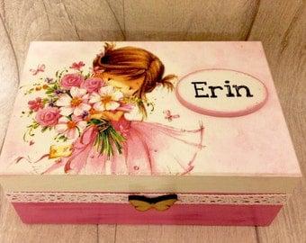 Girls treasure box personalised