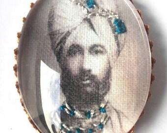 Maharaja vintage hand embroidered brooch