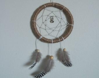 Mini Brown Natural Dreamcatcher with spiral trinket