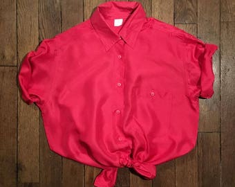 Vintage silk short sleeve shirt