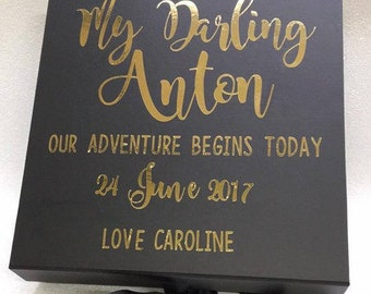 Wedding Day Groom's Gift Box - Personalised