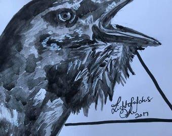 Raven's Call - Original Inktober Artwork