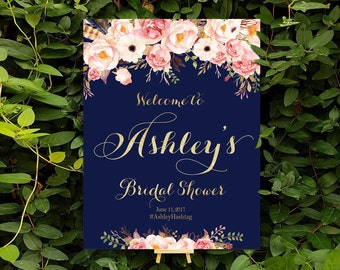 bridal shower banner, Bridal Shower Welcome Sign, Bridal Shower sign, Bridal Shower decorations, bridal shower decor - US_BSc4