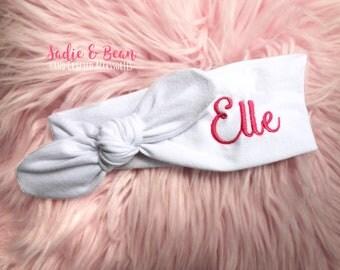 Personalized Baby Headband, Name Baby Headband, Personalized Name Bow, Custom Baby Gift, baby shower gift, Personalized Headband for Girls