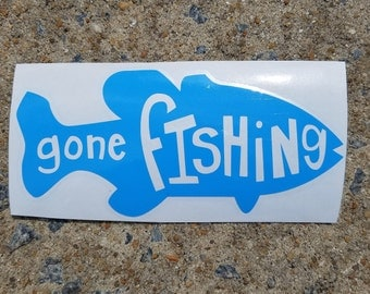 Gone Fishing Vinyl Decal