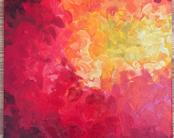 """Acrylic Painting """"Allusion: Red"""""""