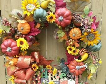 Fall Wreath, Halloween Wreath, Front door Wreath, Autumn Wreath, Thanksgiving Wreath, Wreaths