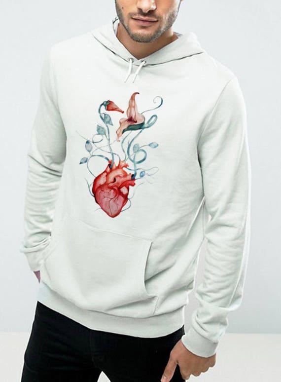 Pink Floyd Love Flowers | Unisex Heavy Blend Hooded Sweatshirt | Hoodie |Graphic Sweatshirt | Watercolor rock music art| The Wall | ZuskaArt