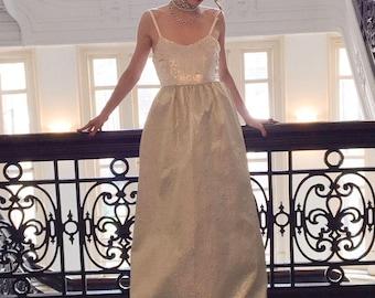 Alice + Olivia Annette Spaghetti Strap Ball Gown