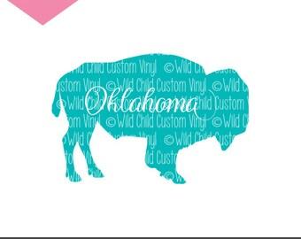 Oklahoma Buffalo SVG, Oklahoma Bison SVG, American Bison svg, Oklahoma Buffalo graphic, Oklahoma Bison Graphic, Buffalo svg, bison svg