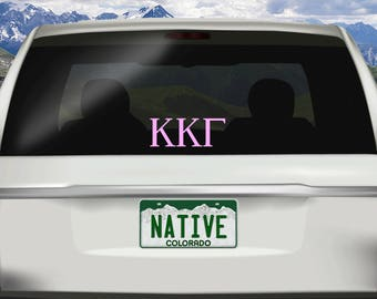 Greek Car Decal You Choose, Greek Car Sticker, Greek Letters Decal, Greek Letters Sticker, Sorority Decal, Sorority Car Sticker, Car Decal