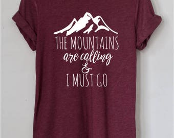 Woman Mountain Shirt, Mountains are Calling Shirt, Gift for Her, Mountains Shirt, Hiking Tumblr Shirt, Birthday Gift for Her, Funny Shirt