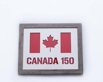 Canada 150   3D Stencil Art   Canada Flag