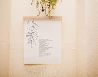 Overgrown Print White